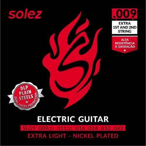 Encordoamento Guitarra Solez 0.9 Slg9 Extra L Cordas Extras