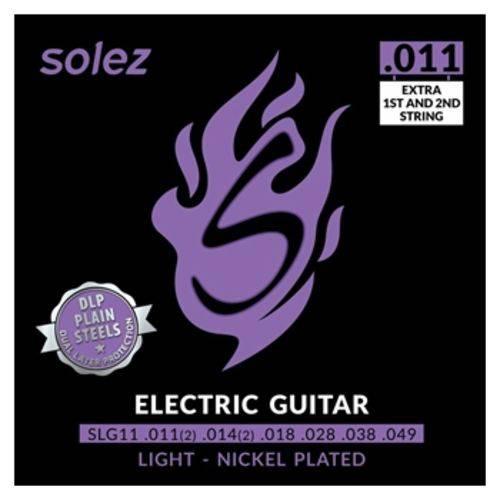 Encordoamento Guitarra Solez 0.10 Slg10 Light Cordas Extras