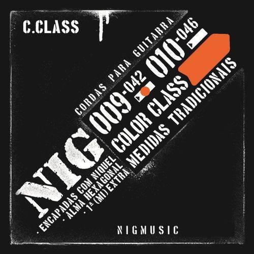 Encordoamento Nig Color Class Laranja 09 042 para Guitarra N1632