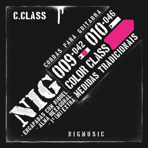 Encordoamento Nig Color Class Rosa 09 042 para Guitarra N1635