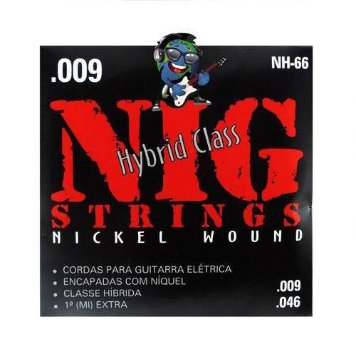 Encordoamento NIG Guitarra 009 - 046 Hibrido NH66