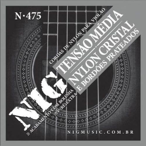 """Encordoamento Nig para Violão de Nylon N-475 - Tensão Média, 0.28""""/.043"""""""