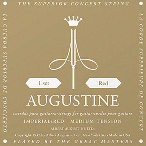 Encordoamento Nylon Imperial Red - Augustine