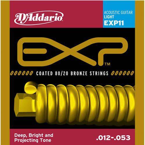 Encordoamento P/Violão Aço 012 Light Exp11 -Daddario