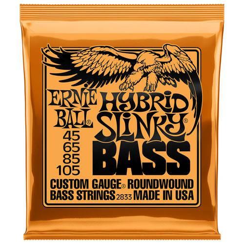 Encordoamento para Baixo 4 Cordas Ernie Ball Hybrid Slinky 045 - 105 2833