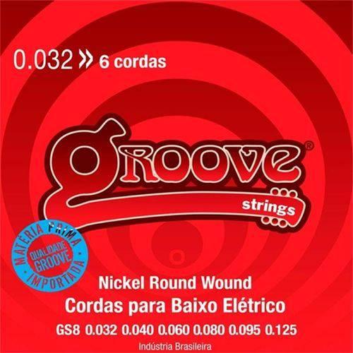 Encordoamento para C. Baixo 6 Cordas Groove Strings 0.032