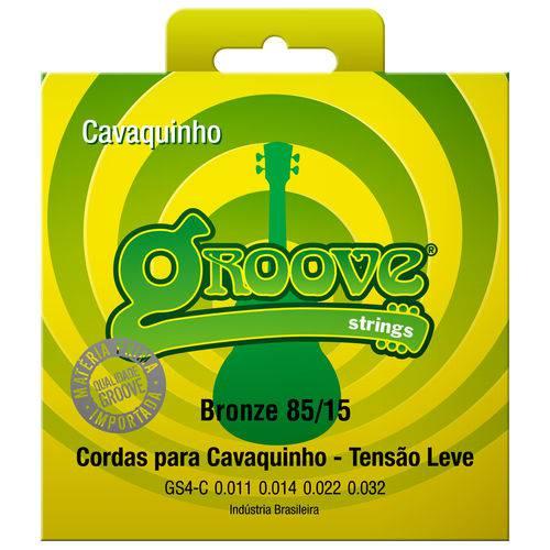 Encordoamento para Cavaquinho Groove 011 Tensão Leve Bronze GS4C