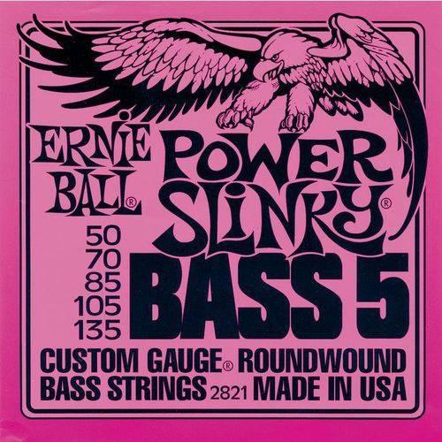 Encordoamento para Contra-Baixo 5 Cordas Ernie Ball Power Slinky (.050-.135) 2821