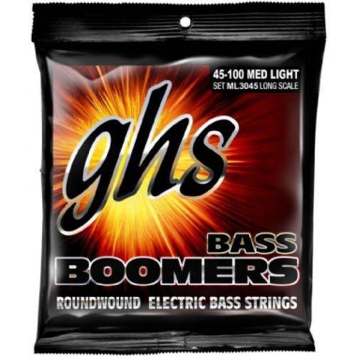 Encordoamento para Contrabaixo Ghs Bass Boomers 45-100 Med Light
