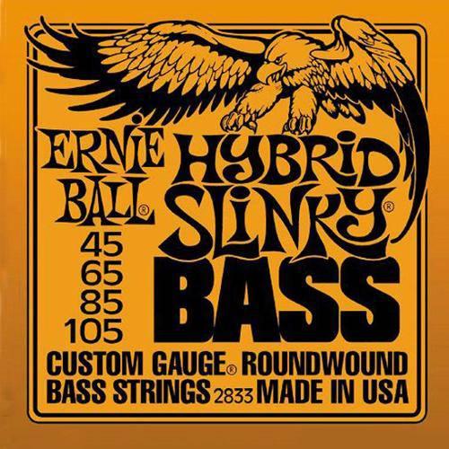 Encordoamento para Contrabaixo Hybrid Slinky 2833 4 Cordas, .045/.105 - Ernie Ball