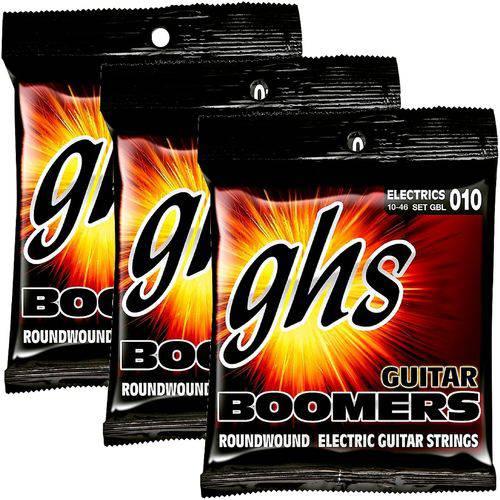 Encordoamento para Guitarra 010 046 GHS Boomers Light GBL - Kit com 3