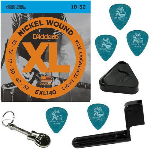 Encordoamento para Guitarra 09 046 Híbrido Daddario EXL125 + Acessórios IZ1