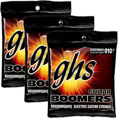 Encordoamento para Guitarra 010 060 GHS Boomers Heavy Weight GBZW - Kit com 3