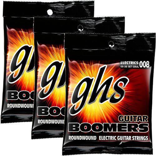 Encordoamento para Guitarra 08 038 GHS Boomers Ultra Light GBUL - Kit com 3