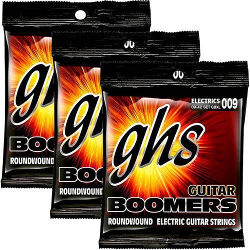 Encordoamento para Guitarra 09 042 GHS Boomers Extra Light GBXL - Kit com 3
