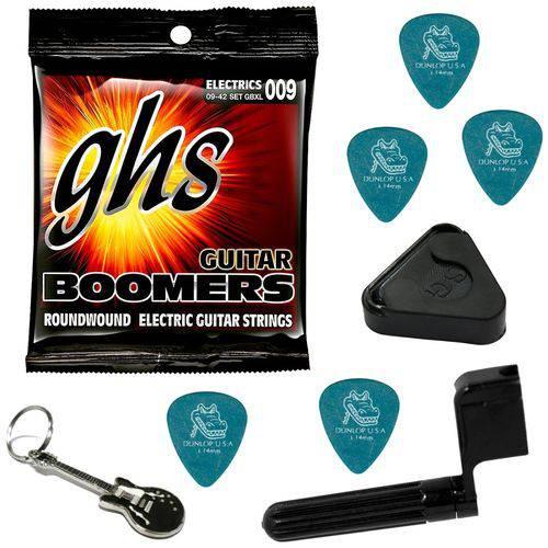 Encordoamento para Guitarra 09 042 GHS Boomers GBXL + Acessórios IZ1