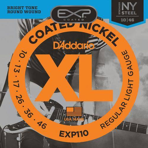 Encordoamento para Guitarra D'Addario EXP110 (.010-.046) Regular Light