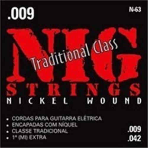 Encordoamento para Guitarra Eletrica Nig 009/042 N63