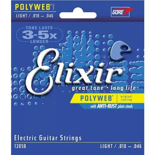 Encordoamento para Guitarra Elixir 12050 Polyweb .010 - .046
