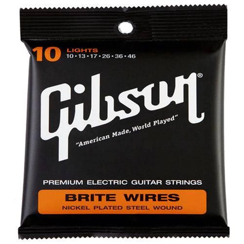 Encordoamento para Guitarra Gibson Brite Wires 010 - 46 700L