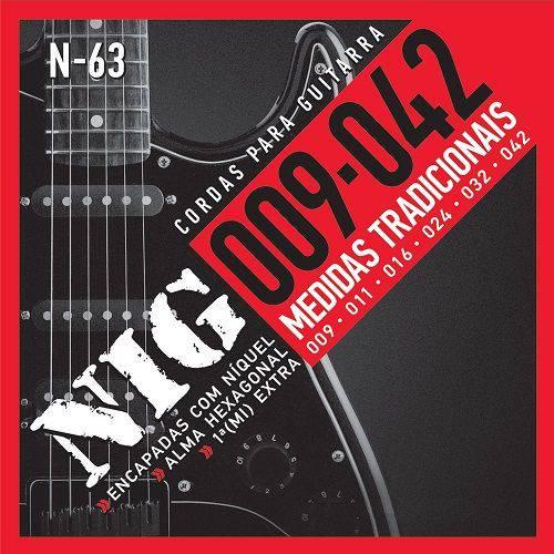 Encordoamento para Guitarra Nig N63 09 Extra