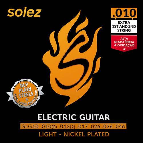 Encordoamento para Guitarra Solez 095 SLG95 +2 Cordas Extras