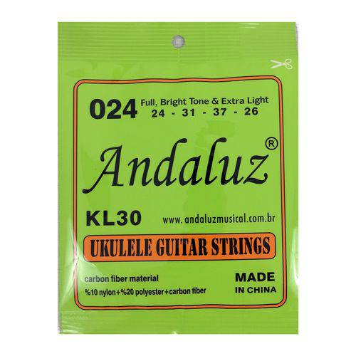 Encordoamento para Ukulele Kl30 Nylon Soprano Concert Andaluz Fabricante: Andaluz