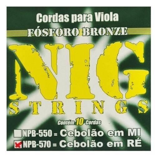 Encordoamento para Viola Caipira NIG NPB-570 Cebolão Ré