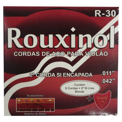 Encordoamento para Violão Aço Rouxinol 0.11- Jogo de Cordas