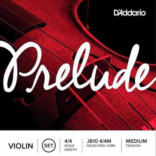 Encordoamento para Violino Daddario Cordas Prelude 4/4 J810