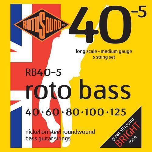 Encordoamento Rotosound para Baixo 5 Cordas Rb40-5 Rotobass 040