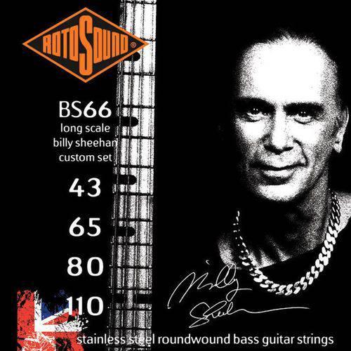 Encordoamento Rotosound para Baixo Bs66 Signature Billy Sheeran 043