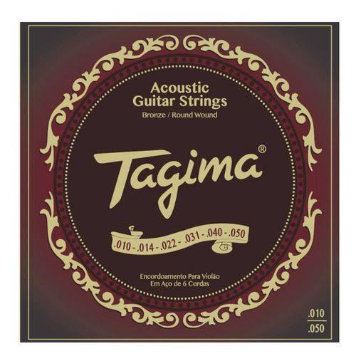 Encordoamento Tagima Violão Aço TVA-010 10/50 Bronze - EC0330