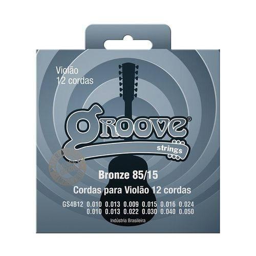 Encordoamento Violão 12 Cordas Aço GS4B12 Groove