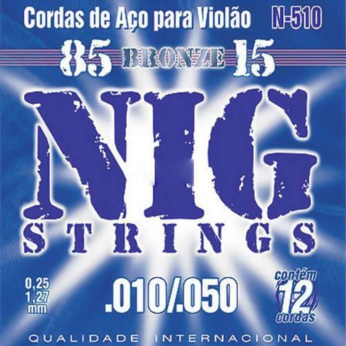 Encordoamento Violao Nig N510 Aco/bronze 12 Cordas