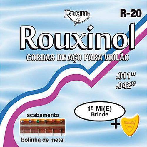 Encordoamento Violão Aço com Bolinha R20 Rouxinol