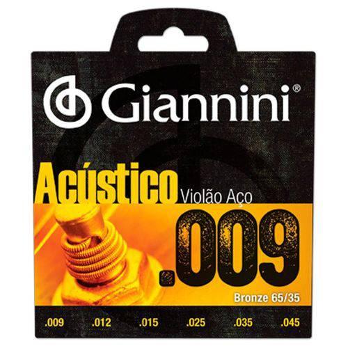 Encordoamento Violão Aço Geswal 0,09 Giannini
