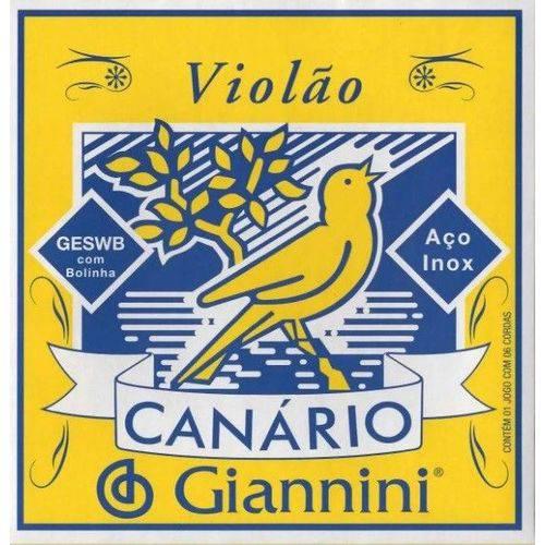 Encordoamento Violão Aço Geswb C/bolinha Giannini