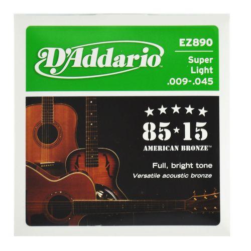 Encordoamento Violão Aço Super Ligth .009-.045 - D'Addario
