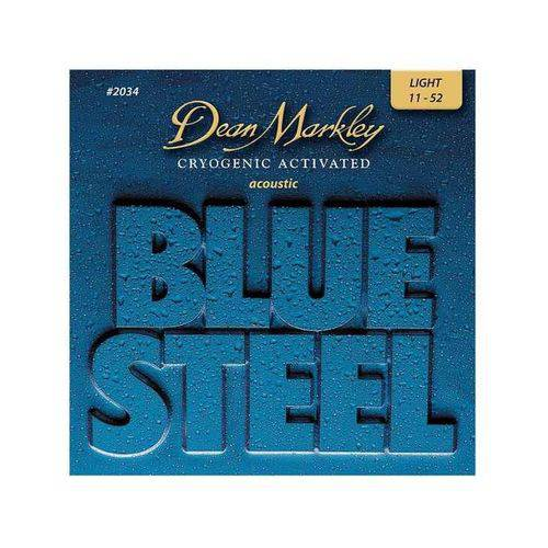 Encordoamento Violao Blue Steel, Light, Medida 11-52 2034 - Dean Markley