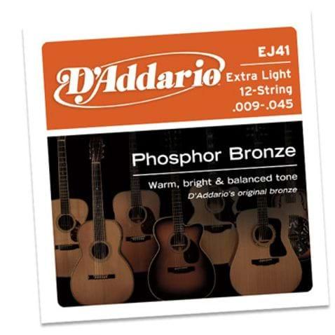 Encordoamento Violao D Addario Ej41 12c Phosp
