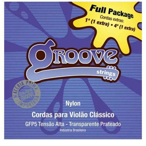 Encordoamento Violão Fullpack Nylon Alta Tensao Gfp5 - Groove