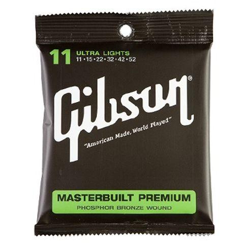 Encordoamento Violao Gibson Masterbuilt Phosphor Bronze Sag Mb11
