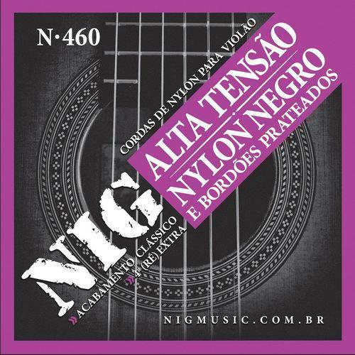 Encordoamento Violão Nig N-460 Nylon Negro - Alta Tensão