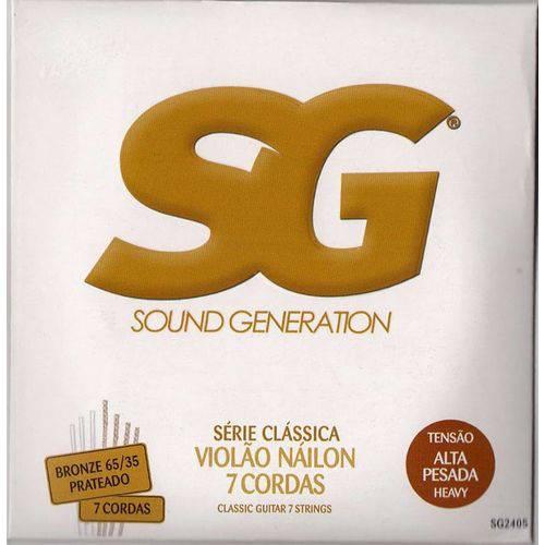 Encordoamento Violão Nylon – SG – 7 Cordas Tensão