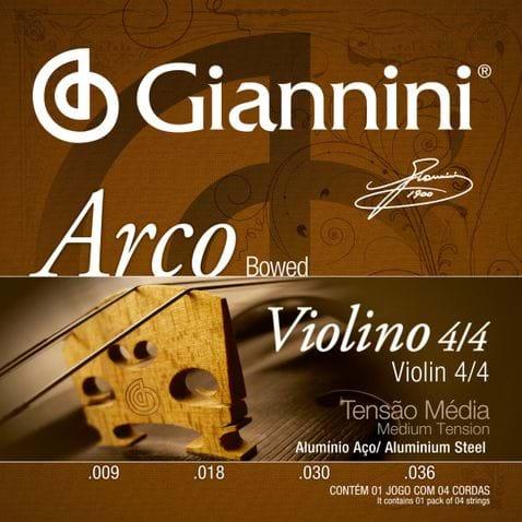 Encordoamento Violino Giannini Geavva Alumiunio