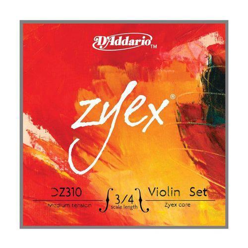 Encordoamento Violino - Zyex D'addario - 3/4 - Medium Normal - #3140.550.27-AT310