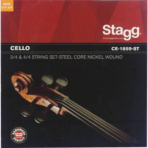 Encordoamento Violoncelo Especial Cello Stagg 3/4 & 4/4