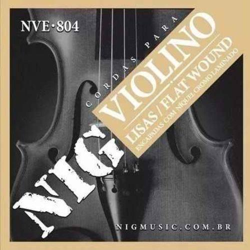 Encordoamentos para Violino Flat Wound Nig Nve-804