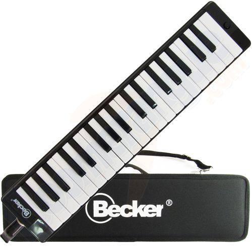 Escaleta Melodica Me37 Preta 37 Teclas Becker com Case Estojo